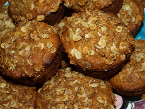 Multi Grain Muffins with Crunchy Streusel Topping
