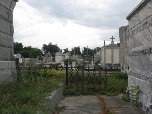 A gloomy day in Carrollton Cemetery