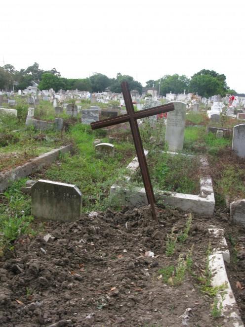 A pauper's grave