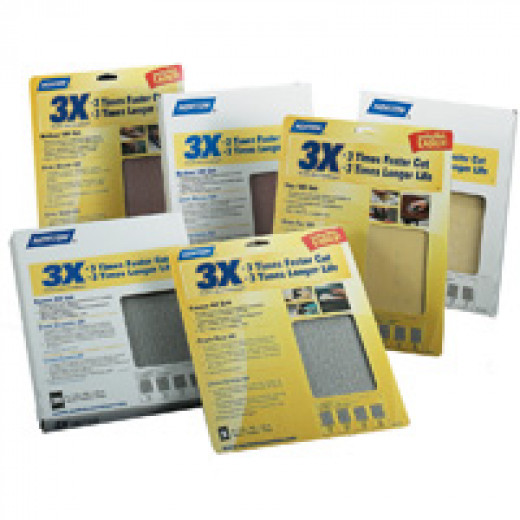 Different grades of sand paper that can be used to achieve a smooth finish.
