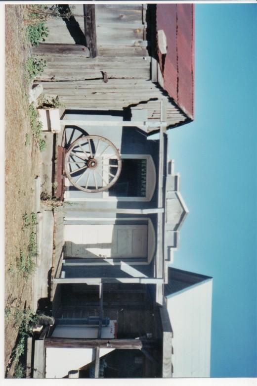 old buildings displayed in Shaniko