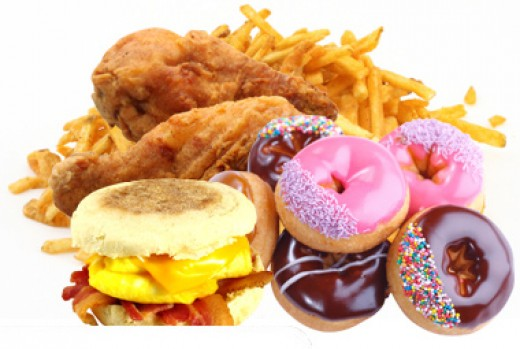 Try and avoid these kinds of foods - or at least only eat them in moderation.