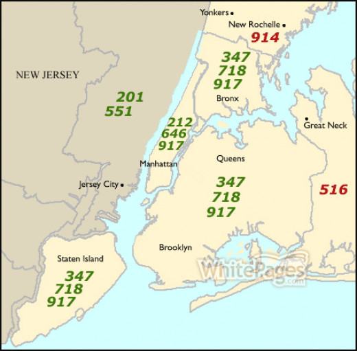 A 212 area code is traditionally from New York