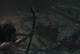 Tomb Raider defeat the wolves to get to the temple gate