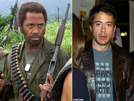 Robert Downey Jr in Tropic Thunder