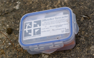 A pretty typical geocache container