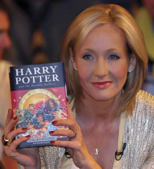 J.K. Rowling wrote the Harry Potter books that were made into movies.