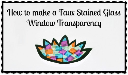 How to make a faux stained glass window transparency.