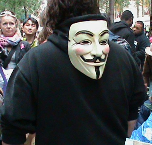 The symbol of the 2011 Occupy Wall Street nonviolent protests.
