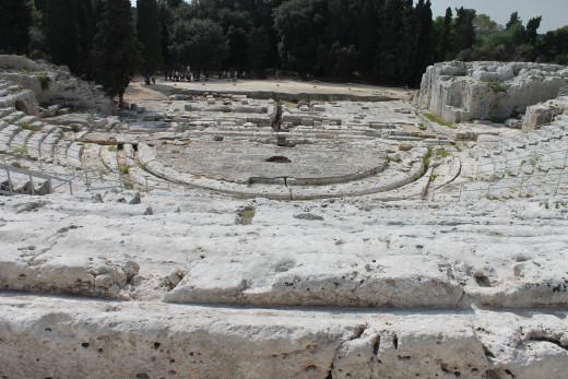 Greek amphitheatre, Syracuse, Sicily.