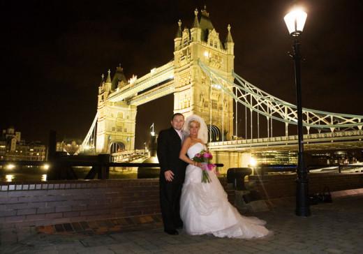 Marrying at Tower Bridge and Walkway