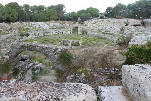 Roman amphitheatre, Syracuse, Sicily.
