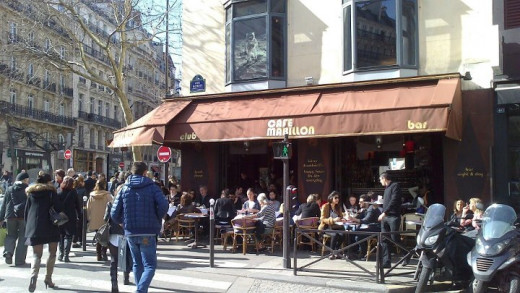 Café Mabillon today.....where I once met the lovely and famous waiter Vincent.