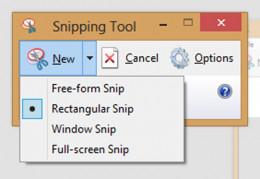 Snip types list.