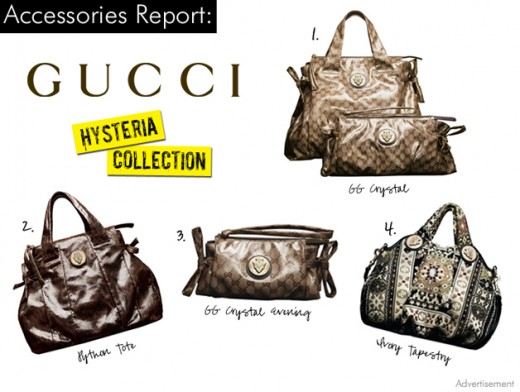 Part of the wonderful Gucci Hysteria Handbag collection.