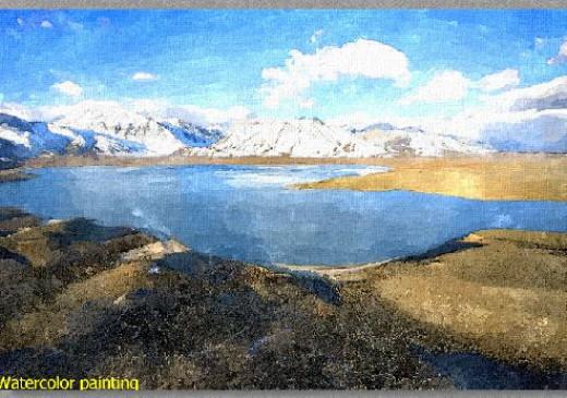 FotoSketcher Watercolor painting rendition