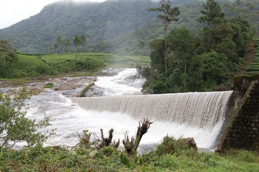 Pallivasal dam and falls