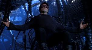 Neo sacrifices himself in the Matrix