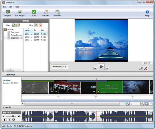 A screenshot of some video editing software