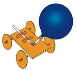Balloon Powered Car Physics Toy