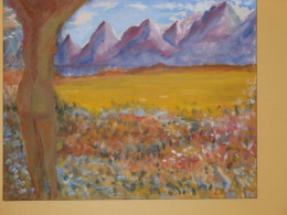 I wrote a short story at my brother's request based on this painting.  Notice the colors he chose.