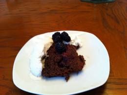 Ice Cream, Whipped Cream, and Black Berries Optional