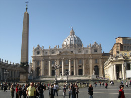 St. Peter's Square in front of St. Peter's Basilica