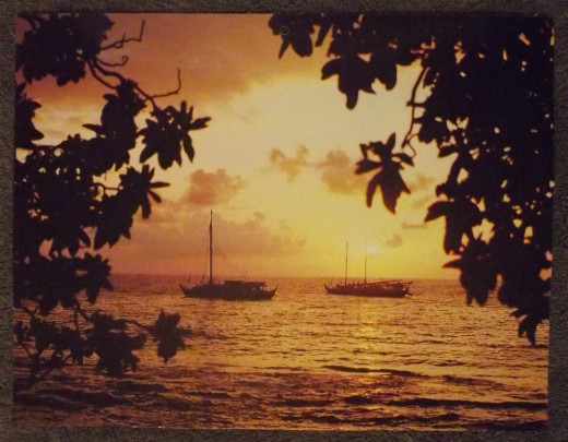 2011 Calendar Print Kuhio Beach Sunset, Original Photographer, Peter French