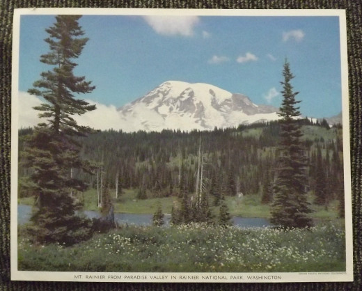Mt. Rainier Photo Print, Standard Oil of California