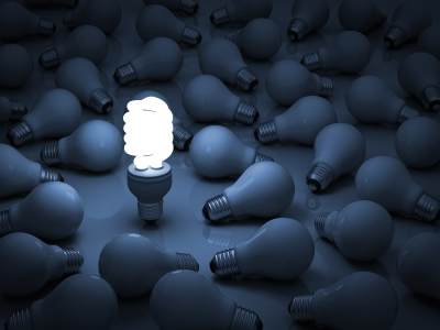 Eliminate incandescent bulbs.