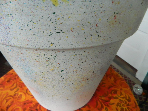 Decorate clay pots with a splatter paint technique hubpages for Clay pot painting techniques