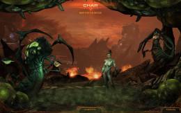 Starcraft 2 Heart of the Swarm screen shot.