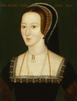 Anne Boleyn, second daughter of Thomas Boleyn and Elizabeth Howard.