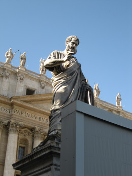 Statute of St. Peter the First Pope (St. Peter's Sq in Rome)