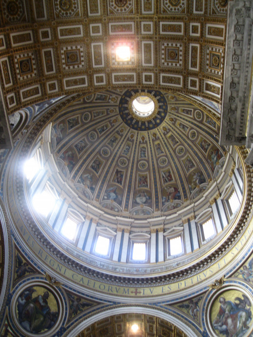 Dome in St. Peter's Basilica in Rome.