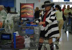 Shopping at Walmart.