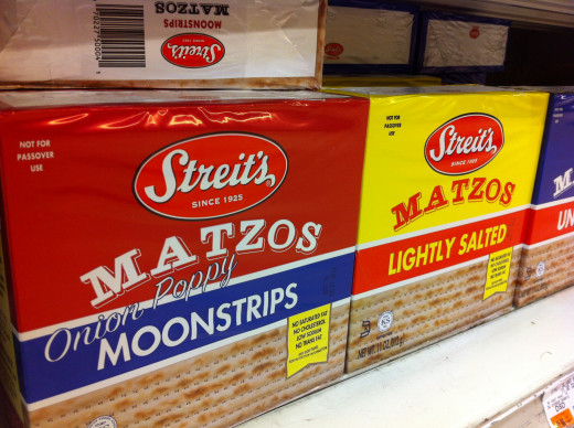 Streitz Matzos are machine made and widely available. The matzos shown are not kosher for Passover.