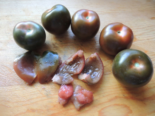 gather your tomatoes, seed, dice and set aside