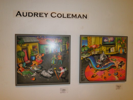 Original artwork and prints by Audrey Colman, Sun Gallery Childrens Book Illustrator show