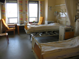 A Hospital room, could Soybeans help reduce the number of sick in these rooms?
