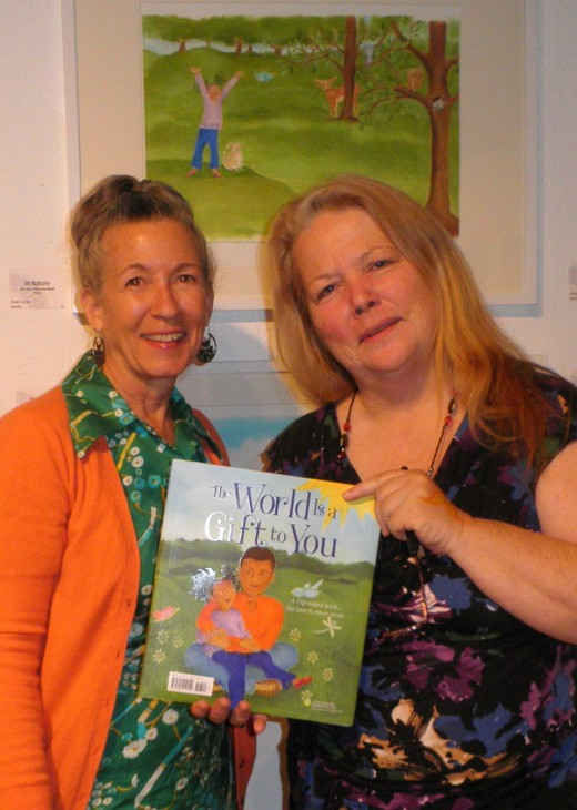 Dona Turner and I at the artists reception at the Sun Gallery. I bought Donas book and had it signed for my grandson Zachary.