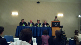 The people who hosted the business panel on Saturday. the third man from the left is Mr. Roy Lee.