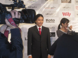 The president and Co-Founder of the Japan Film Society while he is on the Red Carpet.