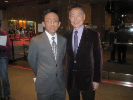 After the movie was over, I caught up with Mr. Takei and talked with him for a bit about his career and such.