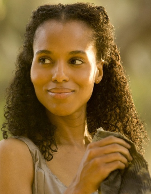 Kerry Washington as Broomhilda von Schaft in Django Unchained.