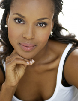Kerry Washington face portrait, actress photo