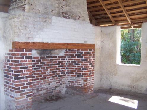 The interior of a Florida slave cabin.
