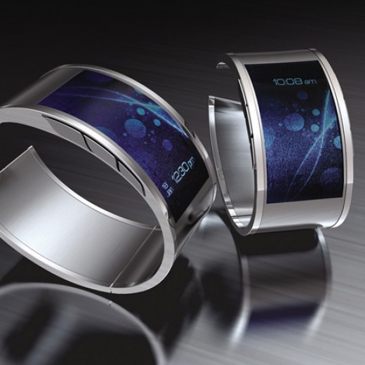 Artists Concept of what a Curved Glass Watch might look like.