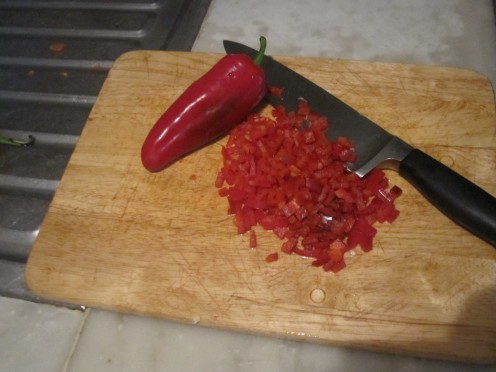 Chopped Sweet Peppers