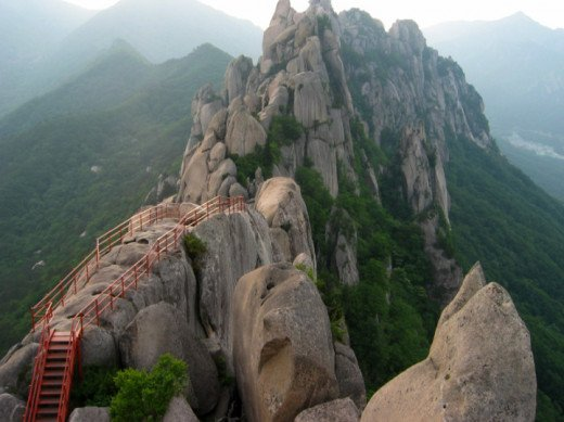 Seorak Mountain of South Korea, 5604 ft.